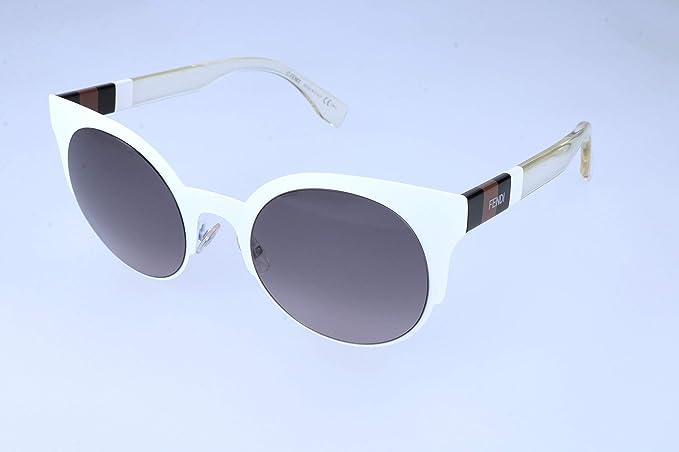 Fendi Gafas de sol, Blanco (White), 50.0 para Mujer: Amazon ...