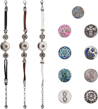 Stile a, 30mm Demiawaking 10 Pezzi Bottoni Perle Strass Bottoni Strass da Cucire Decorazione Fai da Te Abbellimenti Bottoni Piatti Accessori per Vestiti Creazione Gioielli Mestiere DIY