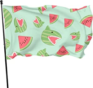 NA USA Guard Flag Banner Welcome Flags Blood Watermelon Shark Yard for Holidays Patio Anniversary Decoration 3x5 Ft