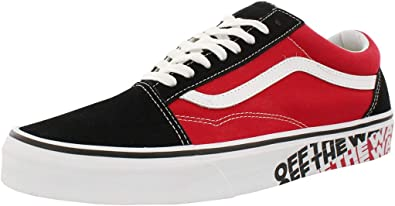 Amazon.com | Vans Old Skool (Black/Red