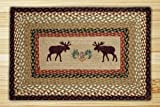 Earth Rugs 67-019MP Pp-Moose Pinecone Print Braided Rug, 20″ x 30″, Burgundy/Mustard Review