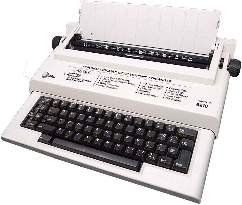 AT&T Modelo 6210 Tostado máquina de Escribir electrónica con ...