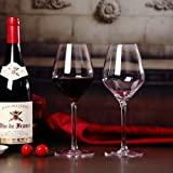 Sucastle Crystal Red White Wine goblet Lead Free Premium Crystal Clear Red Wine Glass Crystal Handmade Premium Red Wine Glass Crystal Stemware 4PCS 500 ml