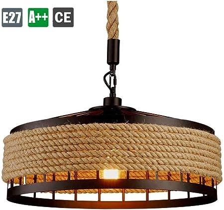 ZXM Lampe À Suspension en Corde De Chanvre Industrielle