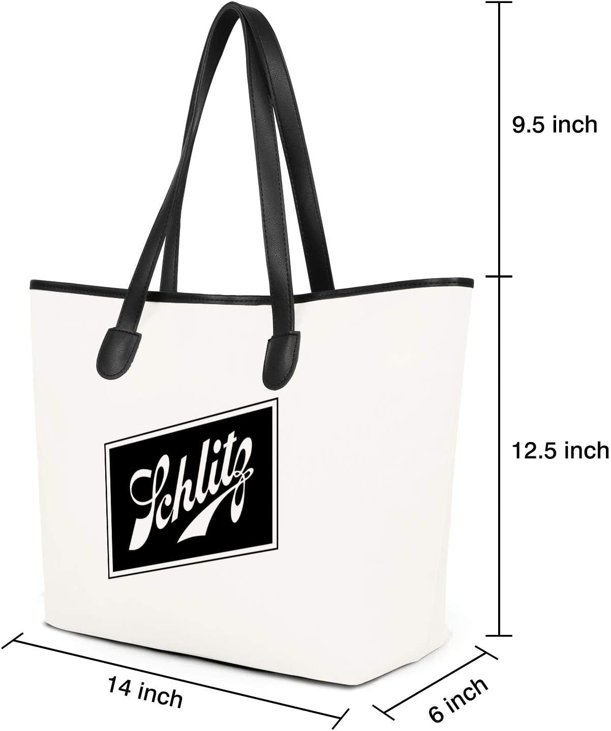 WintyHC Schlitz Beer Malt Liquor Pink Breast Cancer Canvas Tote Bag Handbags Casual Shoulder Bags School Work Travel Shopping Picnic Bag