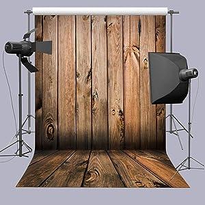 Wooden Wall Photography Backdrop Paper Studio Props Vinyl Floor Photo Background 5x7ft