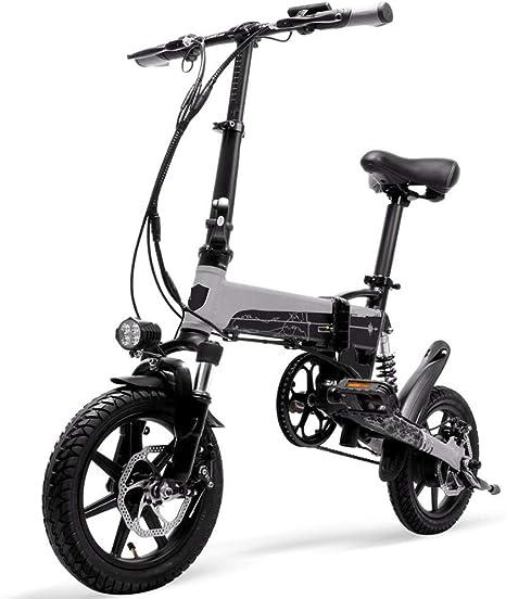 LTLSF Bicicleta Eléctrica Plegable para Mujer, Batería Extraíble ...