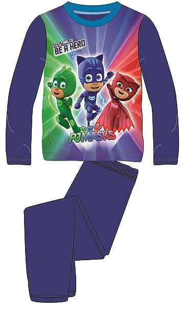 PJ Masks - Pijama Dos Piezas - para niño Azul Azul Oscuro X-Small
