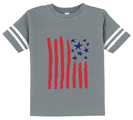 7a2eb6d02b68 Children s Drawing USA Flag - 4th of July American Flag Toddler Jersey T- Shirt 2T