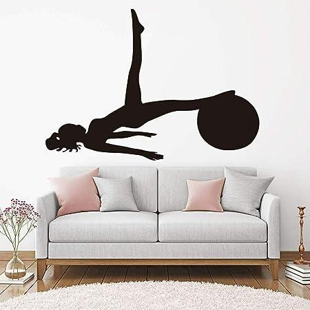 zqyjhkou Silueta Indian Yoga Etiqueta de la Pared Dormitorio ...