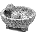 """IMUSA MEXI-2011M Granite Molcajete, 8"""", Gray 9 Made Of Granite Beautiful Serving Piece, goes Seamlessly From Kitchen to Table Easily Grinds Spices & Herbs"""