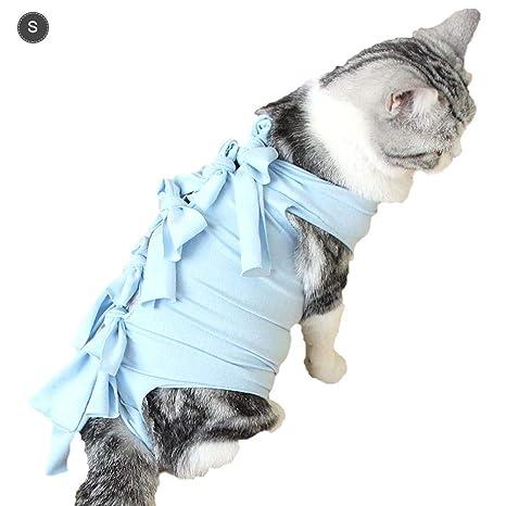 Enjoyyouselves Traje Profesional de recuperación de Gato Mascota Gato Algodón Heridas Abdominales o Enfermedades de la