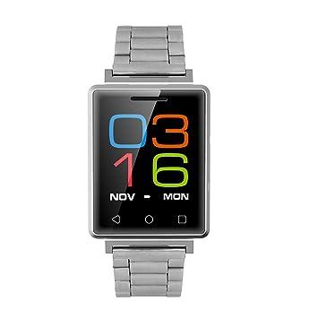 Smart Watch Teléfono Inteligente, Resistente Al Agua Bluetooth Reloj Inteligente con Pulsometro Integrado, Pulsera