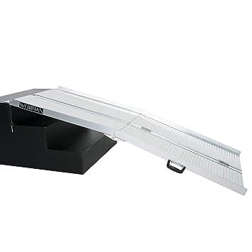 WORHAN® 1.83m Rampa Plegable Carga Silla de Ruedas Discapacitado Movilidad Aluminio Anodizado 183cm R6: Amazon.es: Coche y moto
