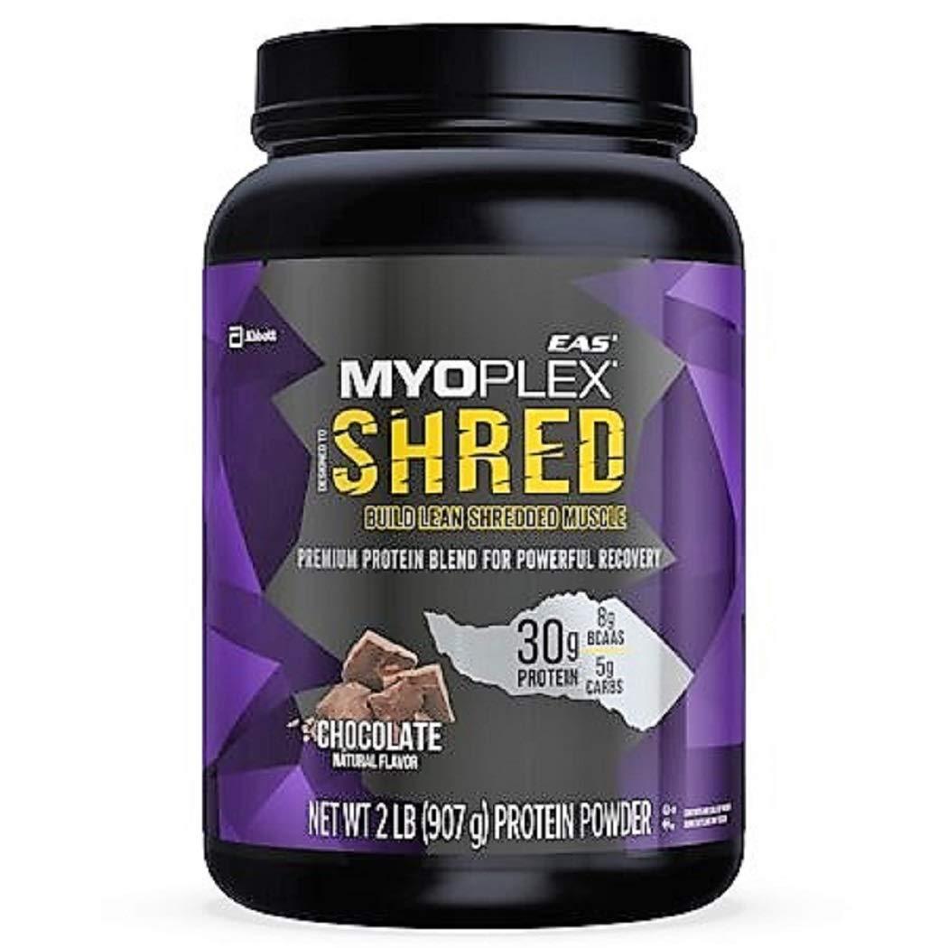 EAS Myoplex Shred Build Lean Muscle Protein Powder, 2LB Tub (Chocolate)