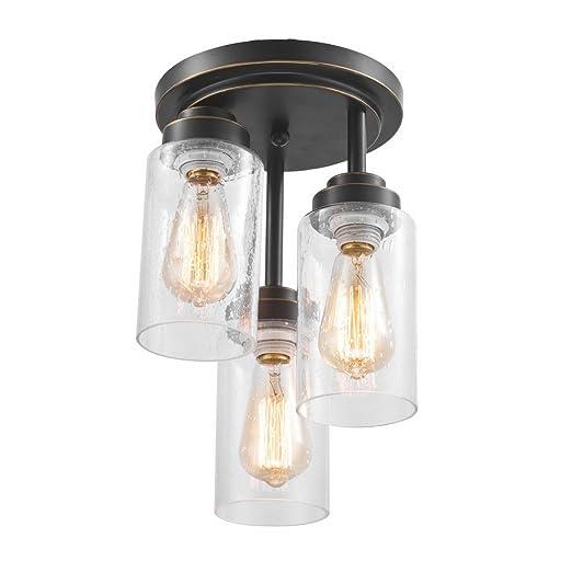 Amazon.com: Dazhuan Moderna Forma de Cilindro 3 Luces Flush ...