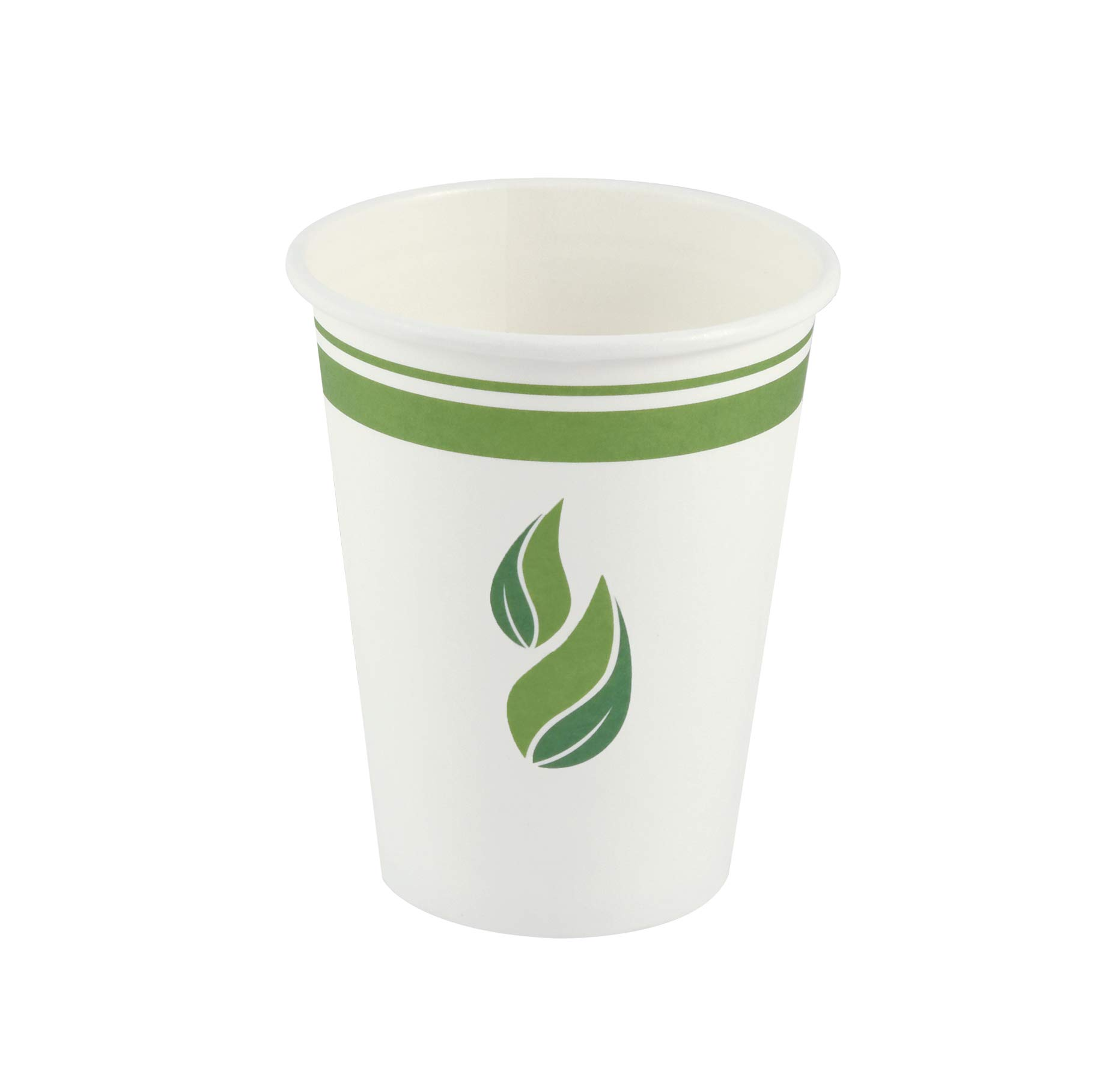 Eco Guardian 12 Ounce Compostable PLA-Lined Drinking Cup, White, 1000 Pack
