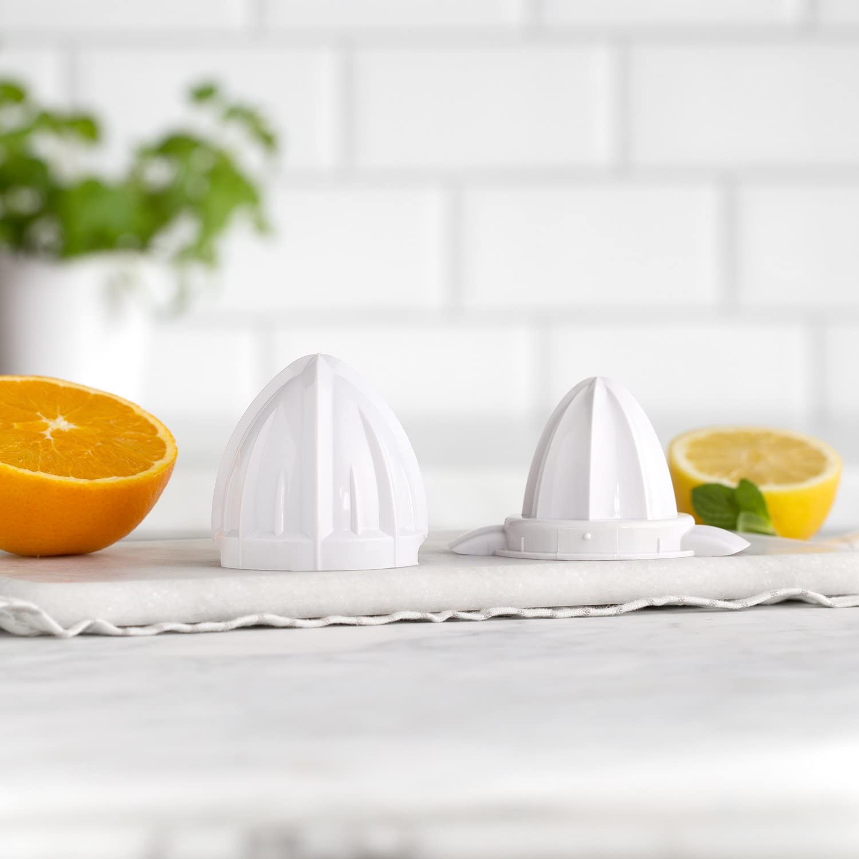 Spremiagrumi Elettrico Paula in Acciaio Inox 100W Bianco Spremifrutta 2 coni di Spremitura