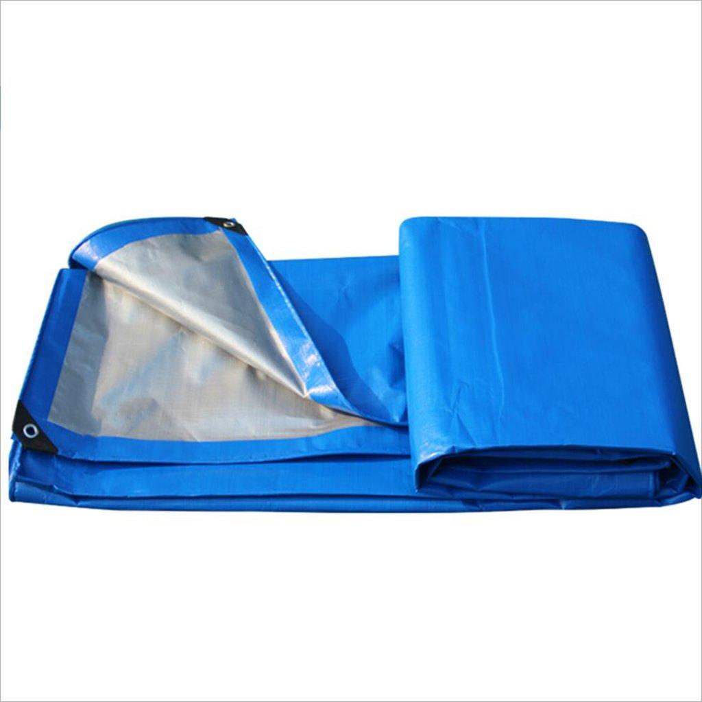 ZfgG Leichte Plane, mit hoher Dichte gewebtes Polyäthylen und Doppeltes lamelliertes, 200g / m², Blau - 100% wasserdicht und UV-geschützt Eine Vielzahl von Größen ist erhältlich