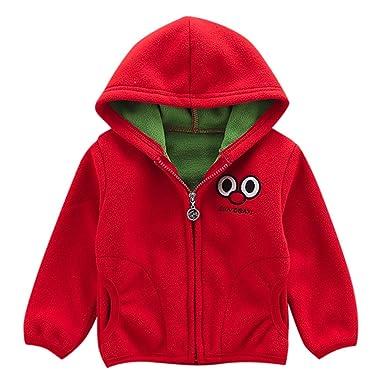 AMSKY Children Kids Baby Boys Girls Winter Warm Dinosaur Hoodie Coat Clothing Jacket Outerwear with Zipper