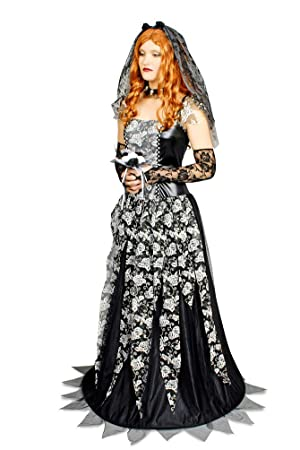 Das Kostümland Disfraz Negra Witwe Talla 36 38: Amazon.es ...