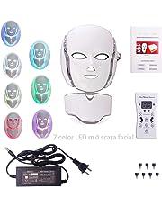 7 Colores LED Luz Facial MáScara Fotorejuvenecimiento Espectro Inicio Fototerapia Belleza Instrumento Con MáScara De Cuello Conjunto FotóN Terapia Sistema Facial Cuidado De La Piel