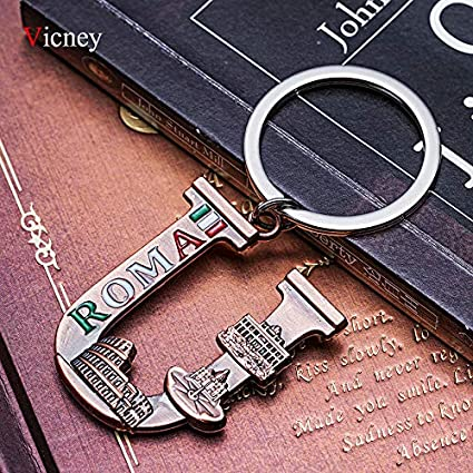 MINTUAN El más Nuevo Llavero de Roma Antiguo Cobre Letra U ...