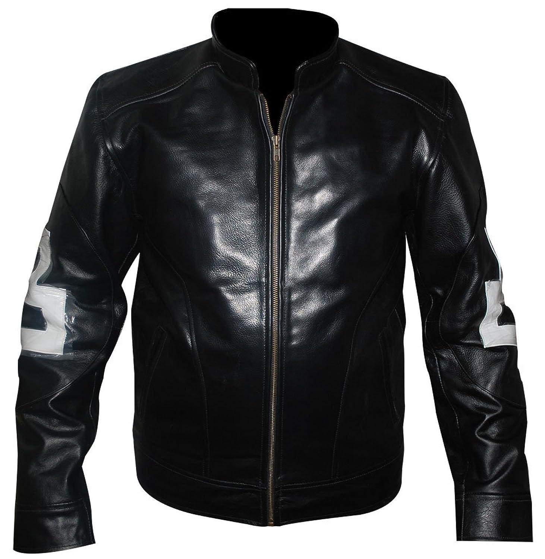 David Puddy 8 Ball Black Patrick Warburton Seinfeld Stylish Mens Black Faux Leather Jacket