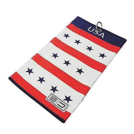 Estados Unidos Patriot por Uther – Toalla de microfibra toalla de Golf – bandera estadounidense