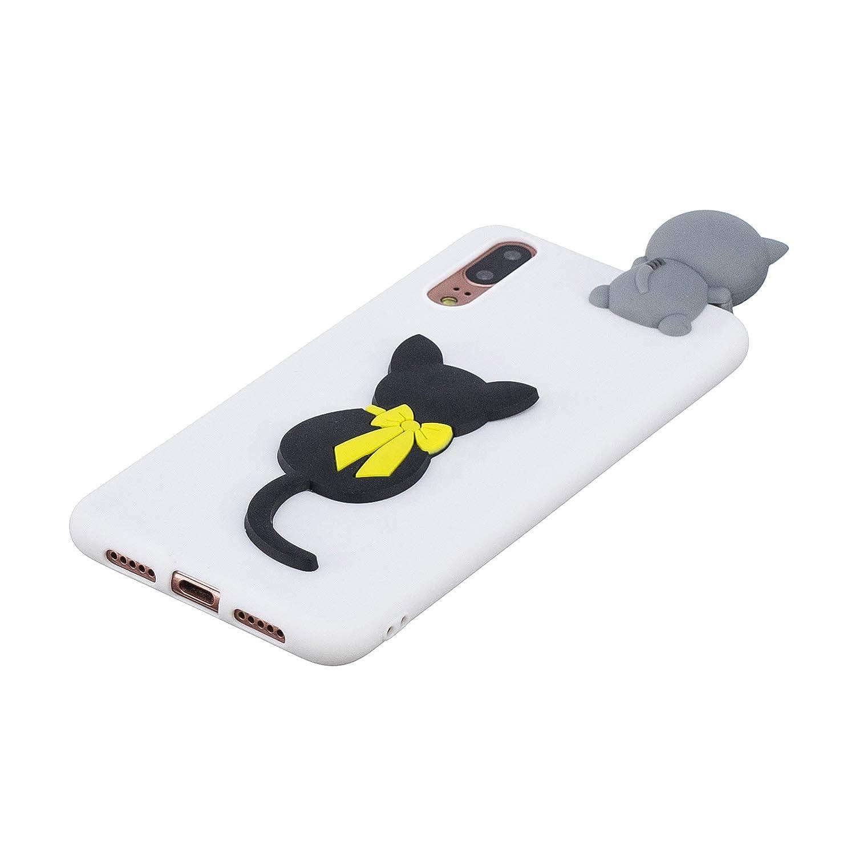 Coque Huawei P20 Lite Ultra Fine Mignon Kawaii Motif /Étui Slim Doux Souple Caoutchouc Silicone Antichoc Housse Protection-Panda Blanc Yobby 3D Animal Dessin Anim/é Coque Huawei P20 Lite