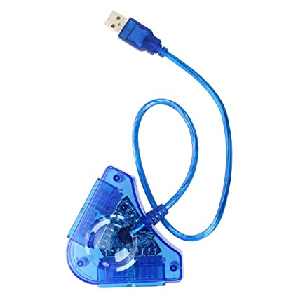 Neewer BLUE PS2 CONTROLLER to PC USB ADAPTER CONVERTER FOR Sony Playstation  PS2
