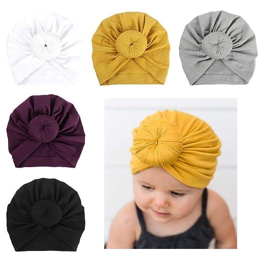bc7c6d59214 Xinshi Girls Baby Cotton Cloth Turban Kont Toddler Tabbit Ear Hat Kids Set  Head Cap (