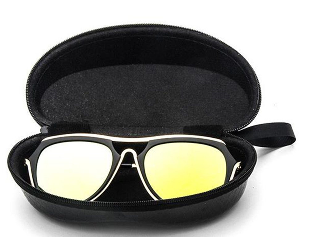 143*55CM nikgic gafas de sol piel funda r/ígida funda de gafas gafas de sol gafas funda de gafas gafas de sol funda antigolpes funda r/ígida talla 143/* 55/cm negro Rose