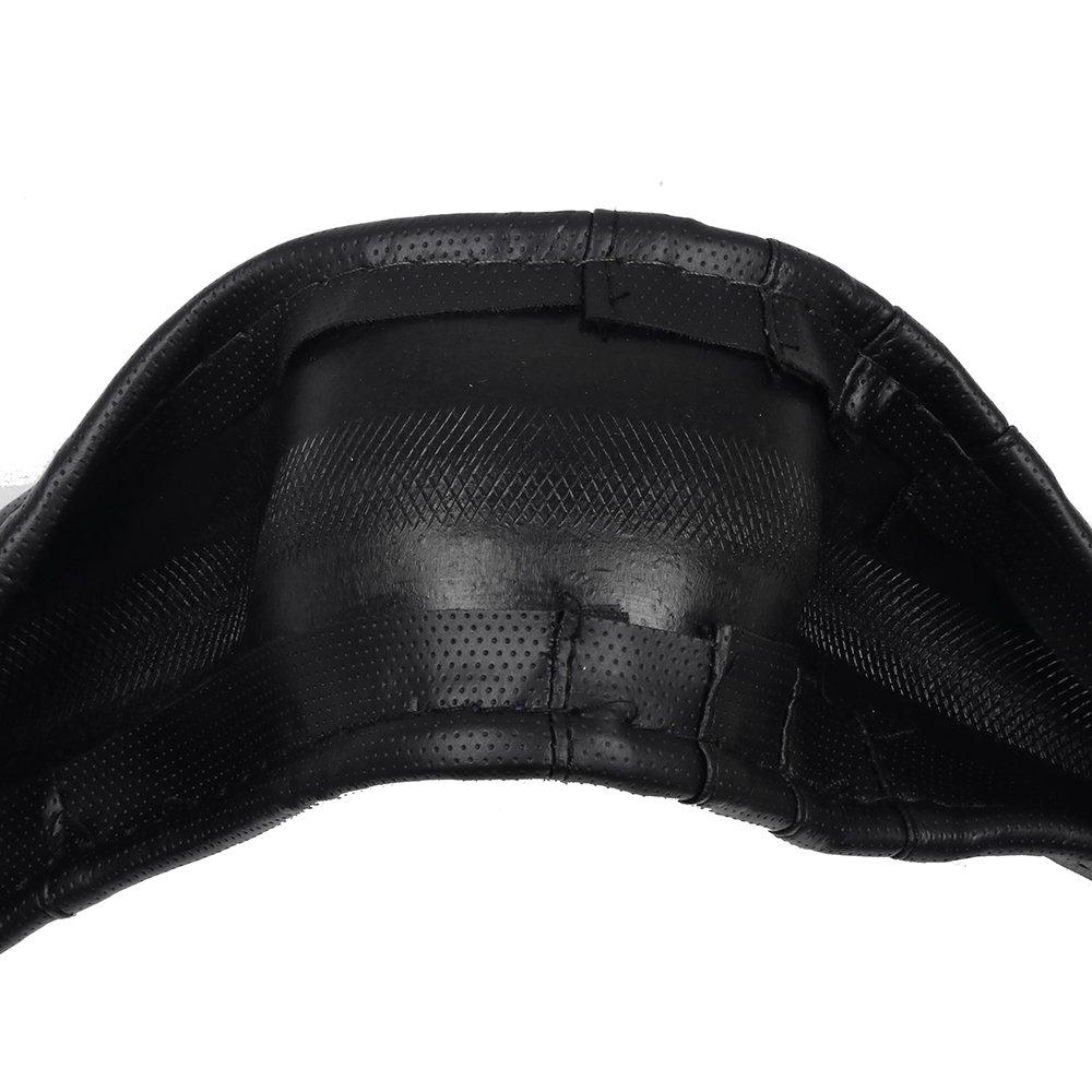 ECCPP Steering Wheel Cover 15 Inch Universal PVC Leather Black//Gray Grip Steering Wheel Cover