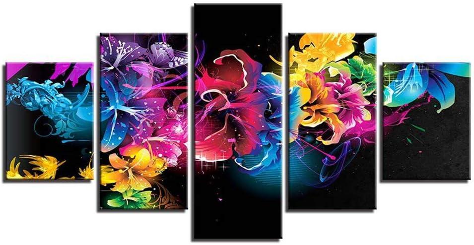 BBQBQ Pintura Decorativa, Habitación Cinco peleas Flores ...