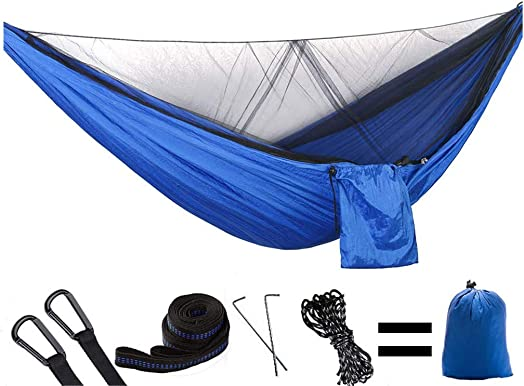 HIKANT Camping Hammock with Mosquito Net Lightweight Portable Parachute Nylon Materials for Outdoor