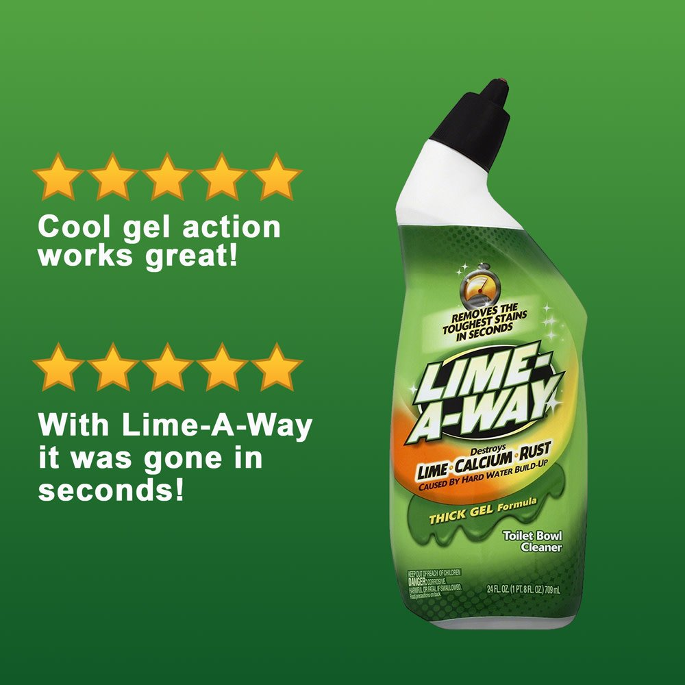 Lime-A-Way Liquid Toilet Bowl Cleaner, 24 fl oz Bottle, Removes Lime Calcium Rust (Pack of 12) by Lime-A-Way (Image #8)