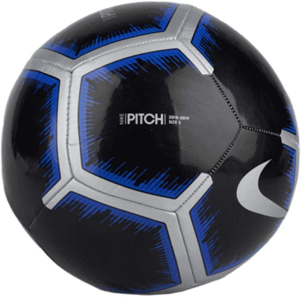 Nike Pitch - Balón de fútbol (Negro/metálico Plata/Azul Racer) (5 ...