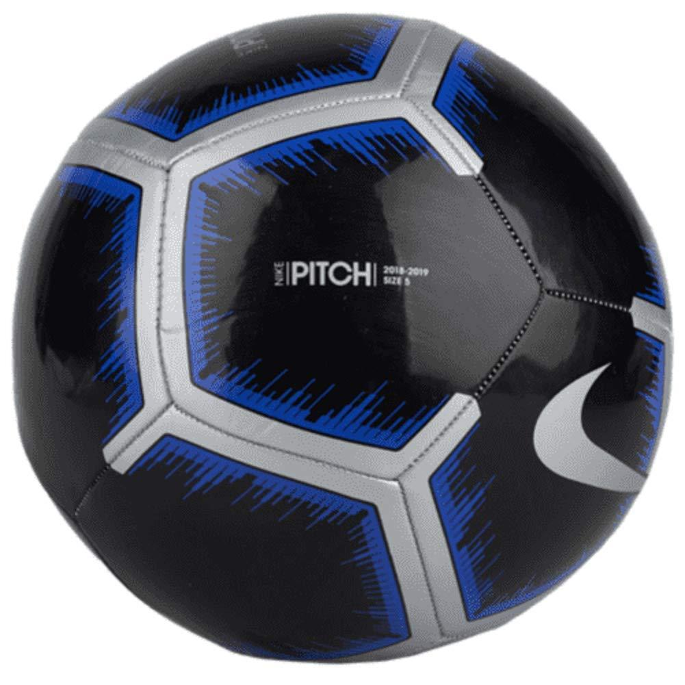 Nike Pitch Soccer Ball (Black/Metallic Silver/Racer Blue) (4)