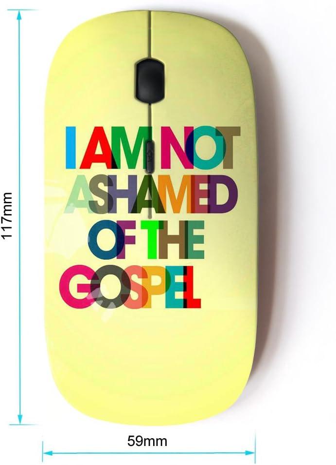 Optical 2.4G Wireless Computer Mouse Bible Verse I AM NOT Ashamed of Gospel KOOLmouse
