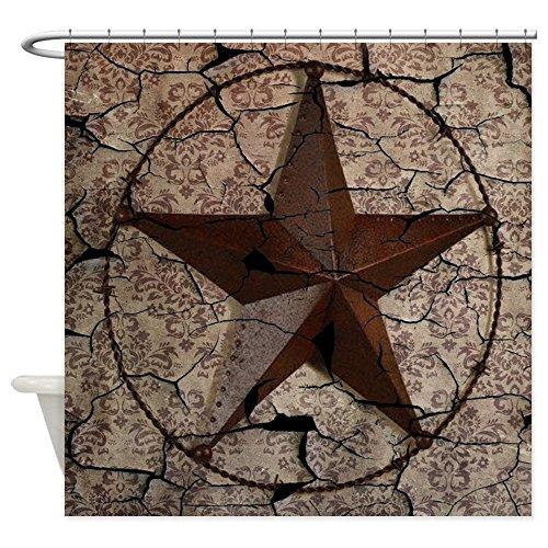 CafePress - Rustic Texas Lone Star - Decorative Fabric Shower Curtain (69