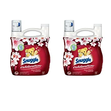 Snuggle Exhilarations Liquid Fabric Softener, Cherry Blossom & Rosewood, 96 Fluid Ounces