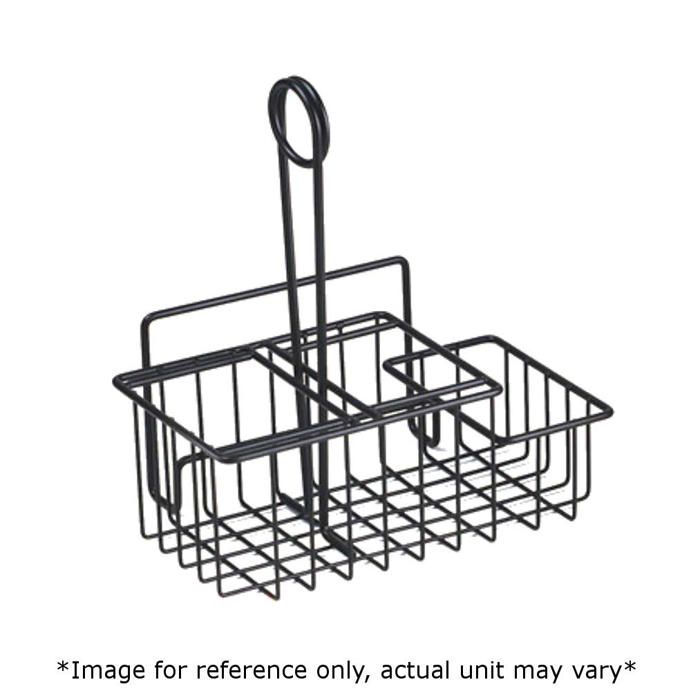G.E.T. 4-31698 Three Compartment Caddy, Iron Powder Coated, 8'' x 4-1/2'' x 9'', Case of 12