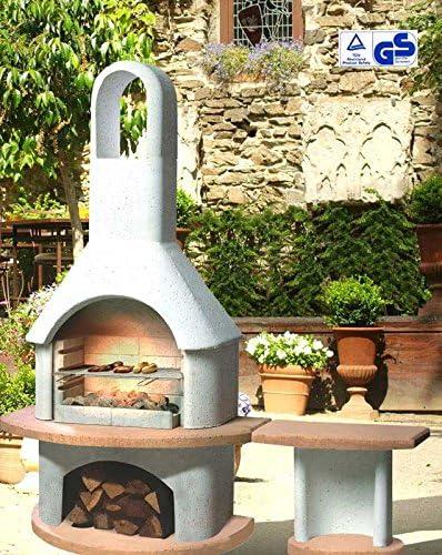Tavolo Da Giardino Con Barbecue.Griglia Camino Barbecue Da Giardino Con Tavolo Fascino Pharao24