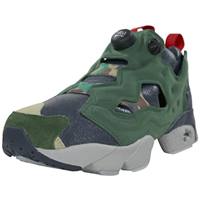 AR1448 MEN INSTAPUMP FURY OG VP REEBOK SNEAKERS BLACK GREEN 7c4142cf1