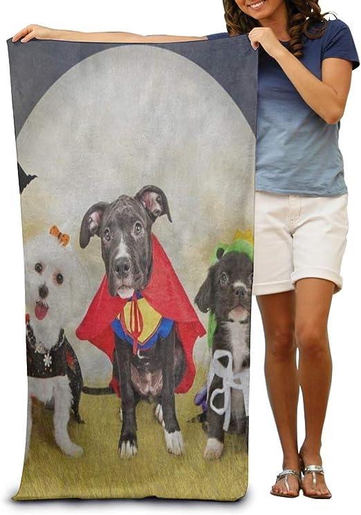 NUGHYFG Toalla de baño súper Suave Hipster Cachorro Disfraces de ...