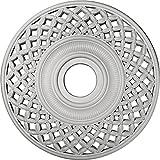 Ekena Millwork CM22RBUWF Robin Ceiling Medallion, Ultra Pure White