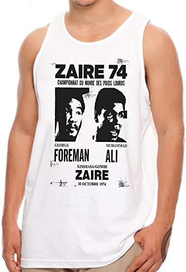 OM3 - ZAIRE74-FOREMAN-vs-ALI - Tank Top - Rumble In The Jungle Afrika  Africa Heavyweight Boxing Fight Champion, S - 4XL: Amazon.de: Bekleidung
