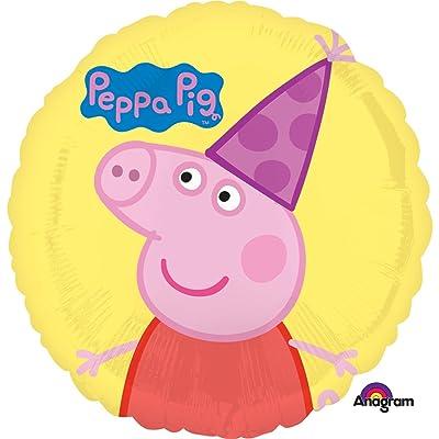 Qualatex Peppa Pig 18 in. Happy Birthday Balloon: Toys & Games