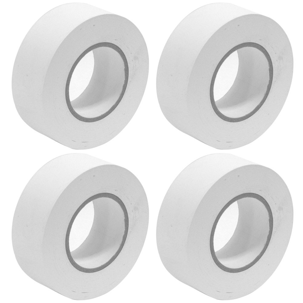 Seismic Audio - SeismicTape-White602-4Pack - 4 Pack of 2 Inch White Gaffer's Tape - 60 yards per Roll